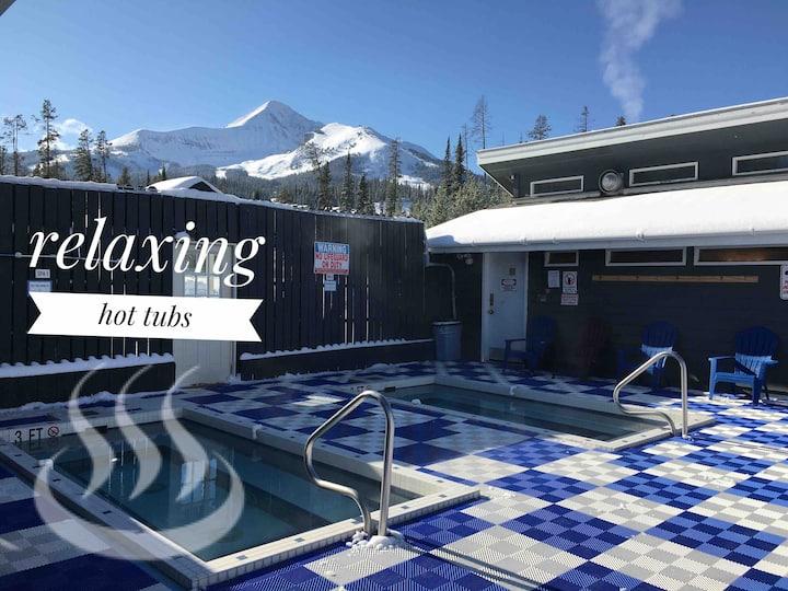 Hot Tub and Big Sky Mountain Village Full Condo