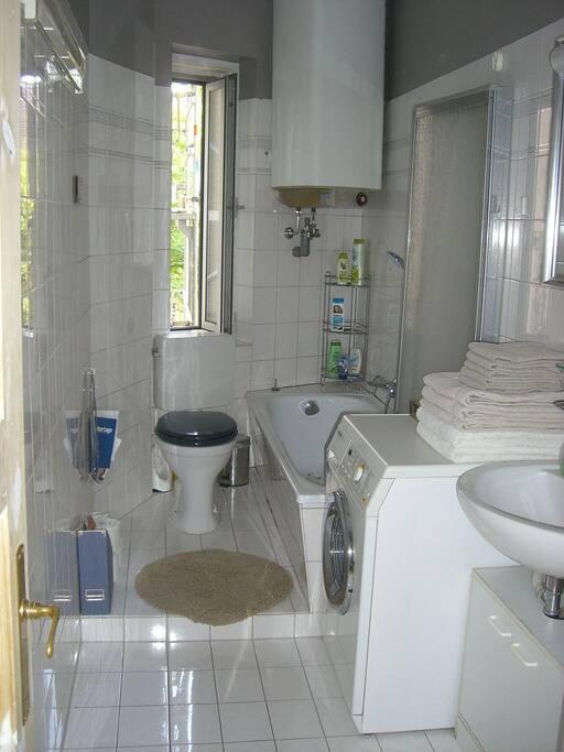 ... the bathroom ...