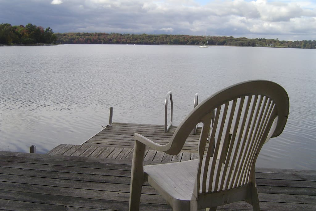 View from private dock over Smith Bay