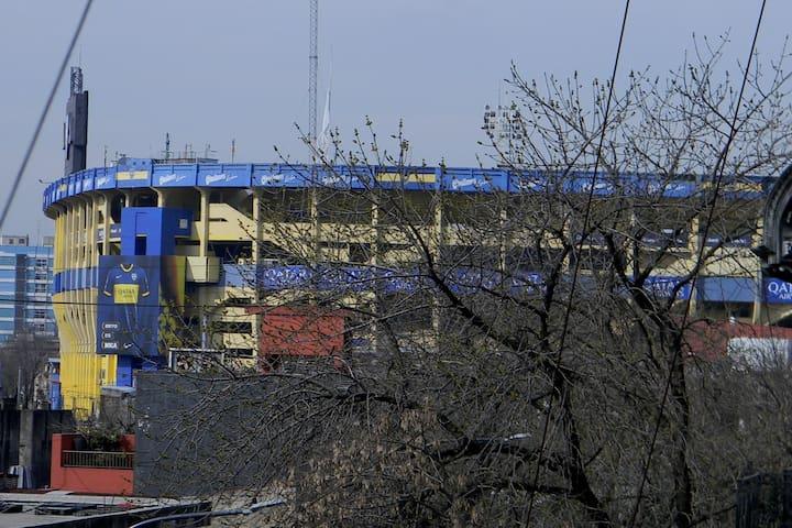 Cerca del estadio de Boca Junior