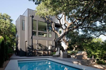 Modern 3-Story, Pool, Garden Living - Austin - House