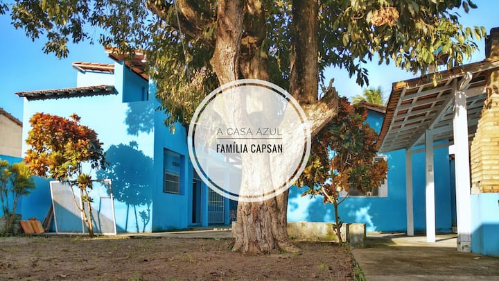 A casa azul- Família Capsan - Santa Cruz Cabrália