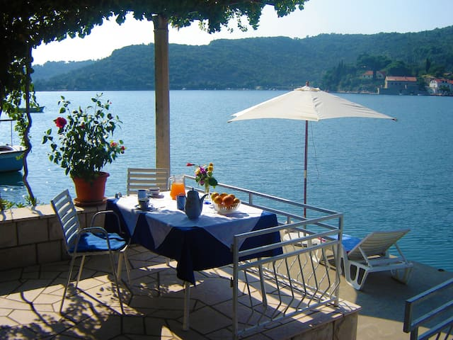 Quiet and relaxing seafront apartment Cecilija