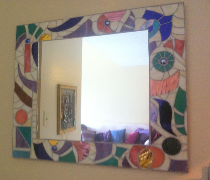 Original mosaic mirror.