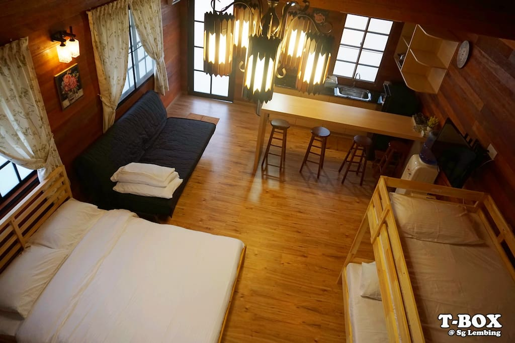 Interior of Wooden Cottage - explained by its name is interior decorated with wood