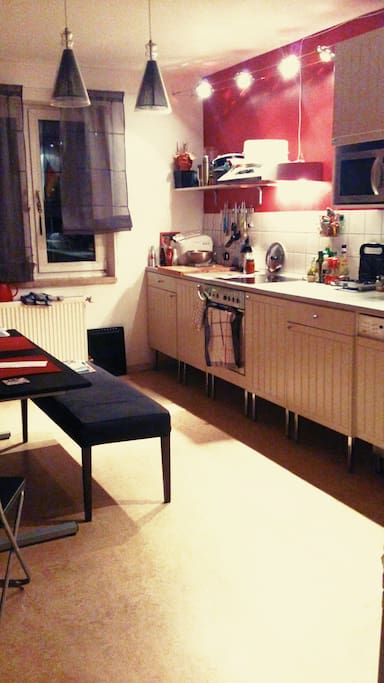 spacious kitchen with all necessary utilities.