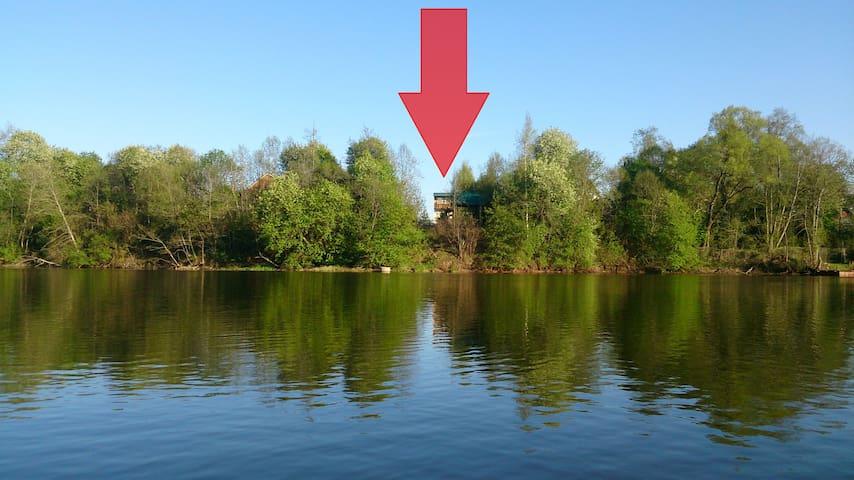 Дом с баней на берегу водохранилища - Zhukovka - Hus