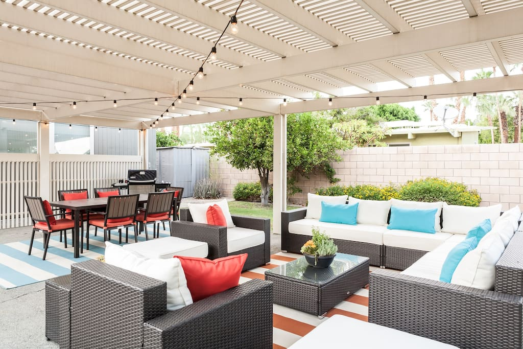 Spacious outdoor living and dining