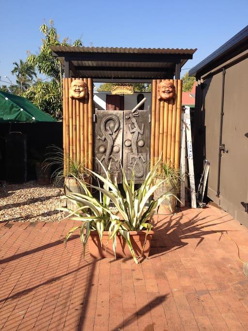 Bali Inspired outdoor bathroom