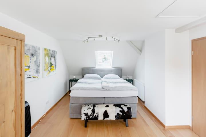 Top-ausgestattetes Zimmer, eigenes Bad, Nähe Basel