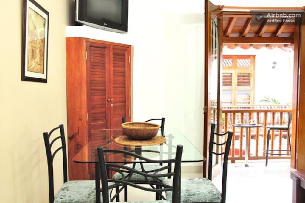 Dining area #1 & balcony