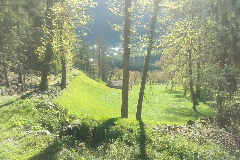 Vista dal parcheggio verso valle