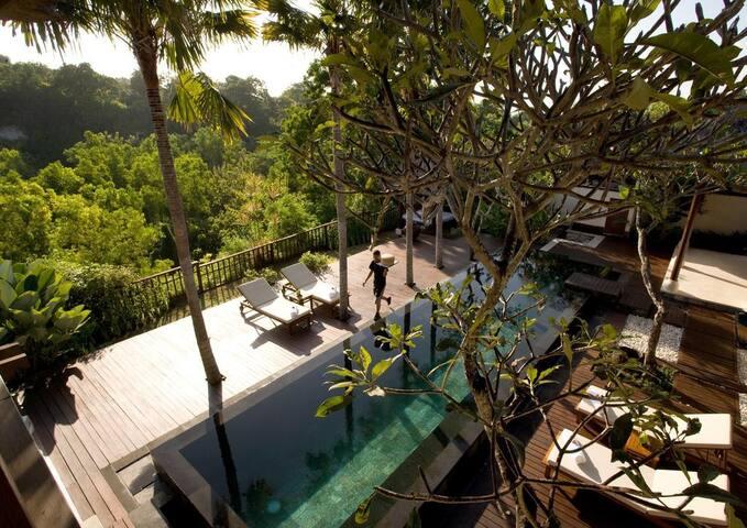 """3 BR Pool Villa+B""""fast+Hottub+SPA+Jungle View"""