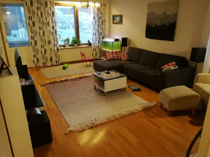 80 m2 apartment 3 rooms+kitchen+sauna
