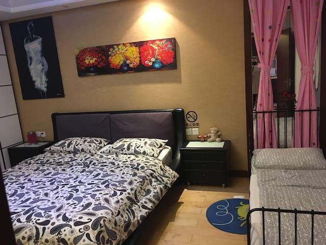 柳巷盘古一号家庭亲子整套公寓(浪漫满屋) - Taiyuan
