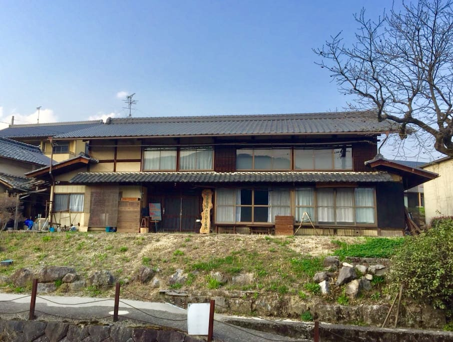 Our house view from road below♪