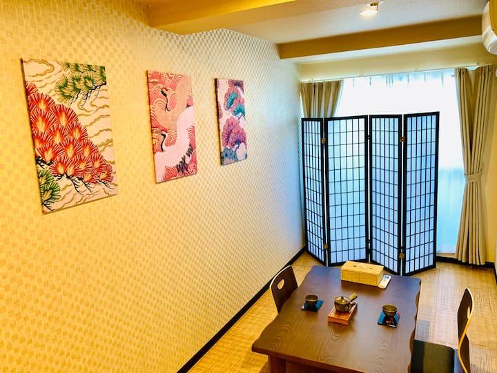 大阪梅田步行圈高级独栋民居,京都神户直达--初心之屋Frist Choice 11号馆
