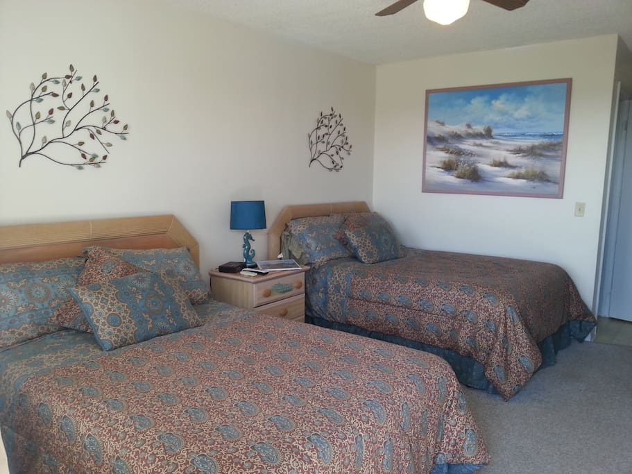 Two large double beds
