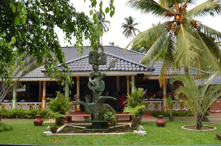Our front area of the reception hall and the rooms located back side with nice panoramic village, paddy field view...