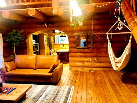 Lincoln Country House Rumah Log Super Autentik di Alam Tempat Sempurna di Pulau Awaji Hewan peliharaan diperbolehkan