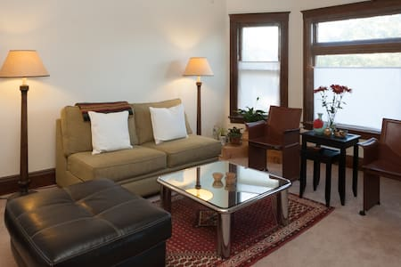 A spacious and cozy 1-bedroom apartment located on a charming street in historic Corktown. This prime location is walking distance to Detroit's best coffee shop and many other restaurants and bars. Easy to reach Southwest, Downtown, Midtown.