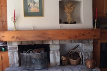 The fireplace for cold wintry nights