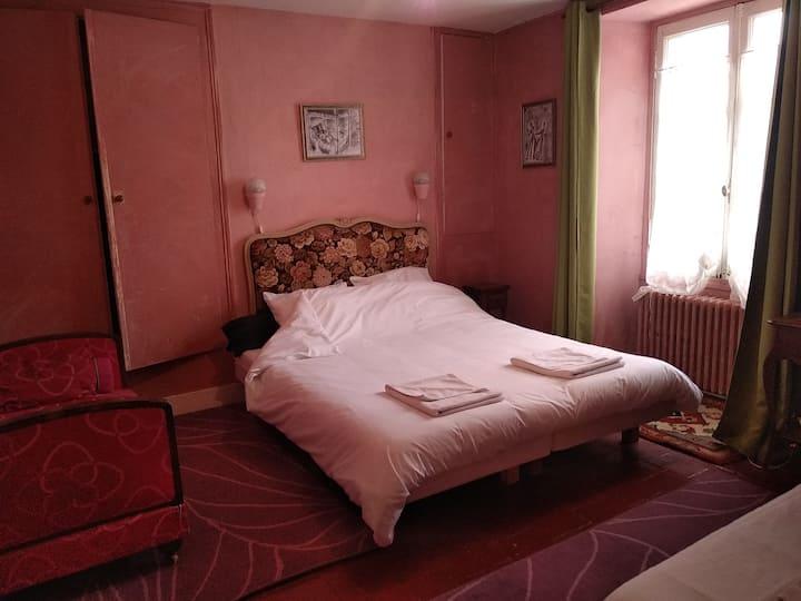 Chambre triple(rose) Sdb entre Châteaux et Beauval
