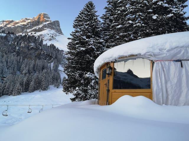 5 Billionen Sterne Panorama Jurte in den Alpen