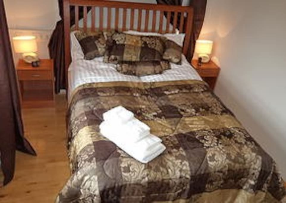 A double room, very good beds