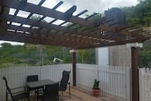Back Deck with Arbor - great location for dining, relaxing or entertaining.
