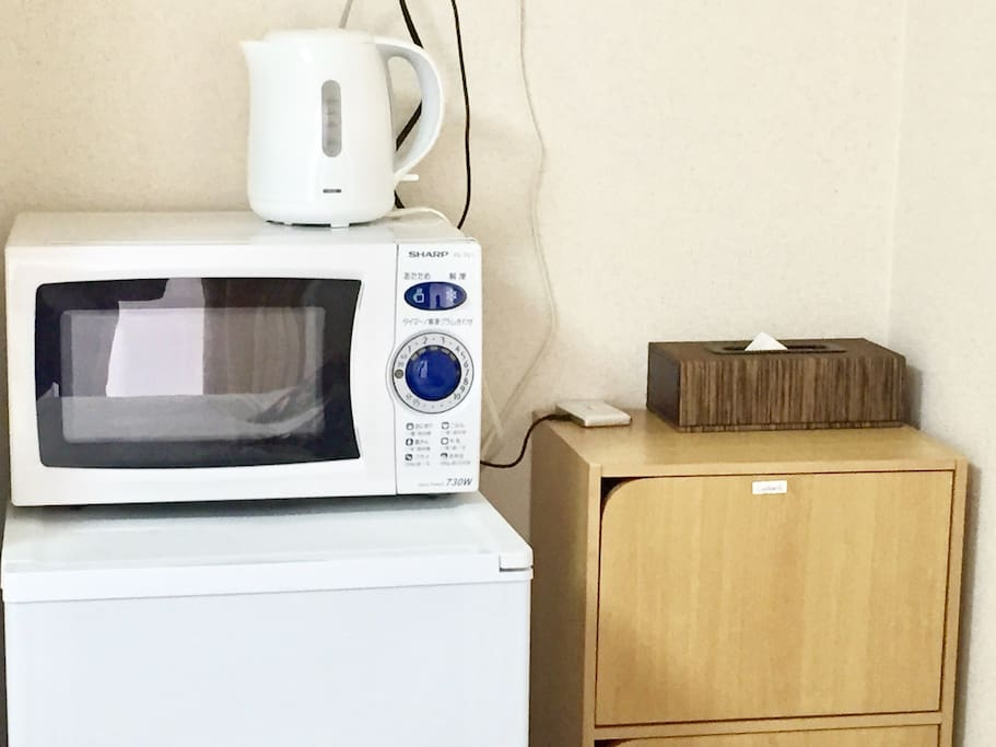 microwave, electric pot