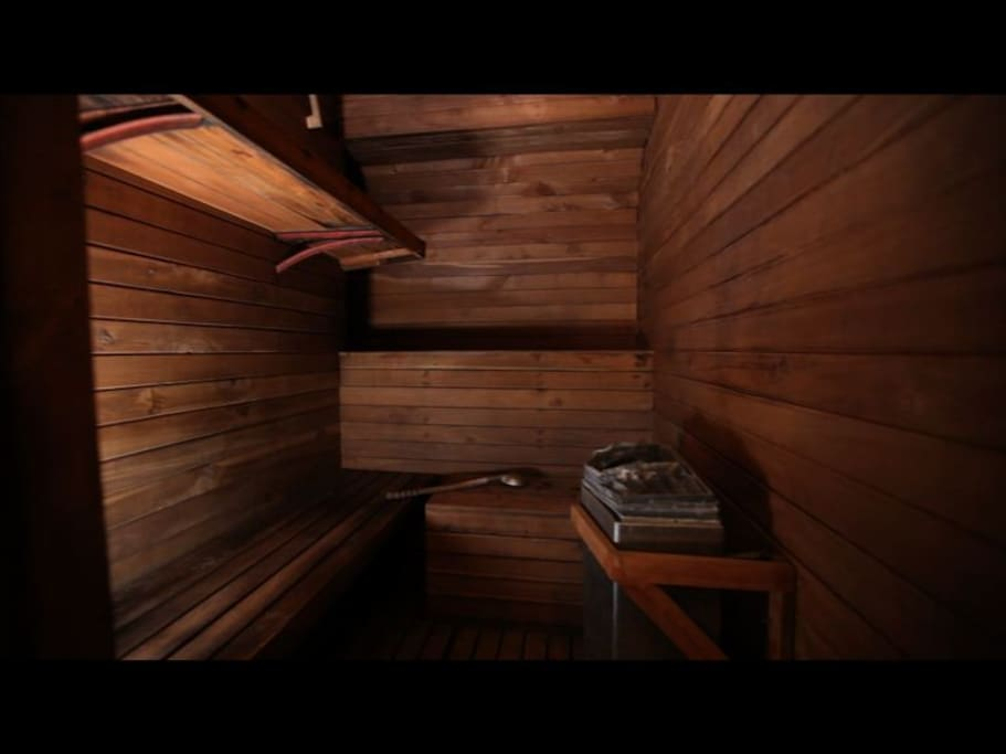 Sauna can be booked for private use