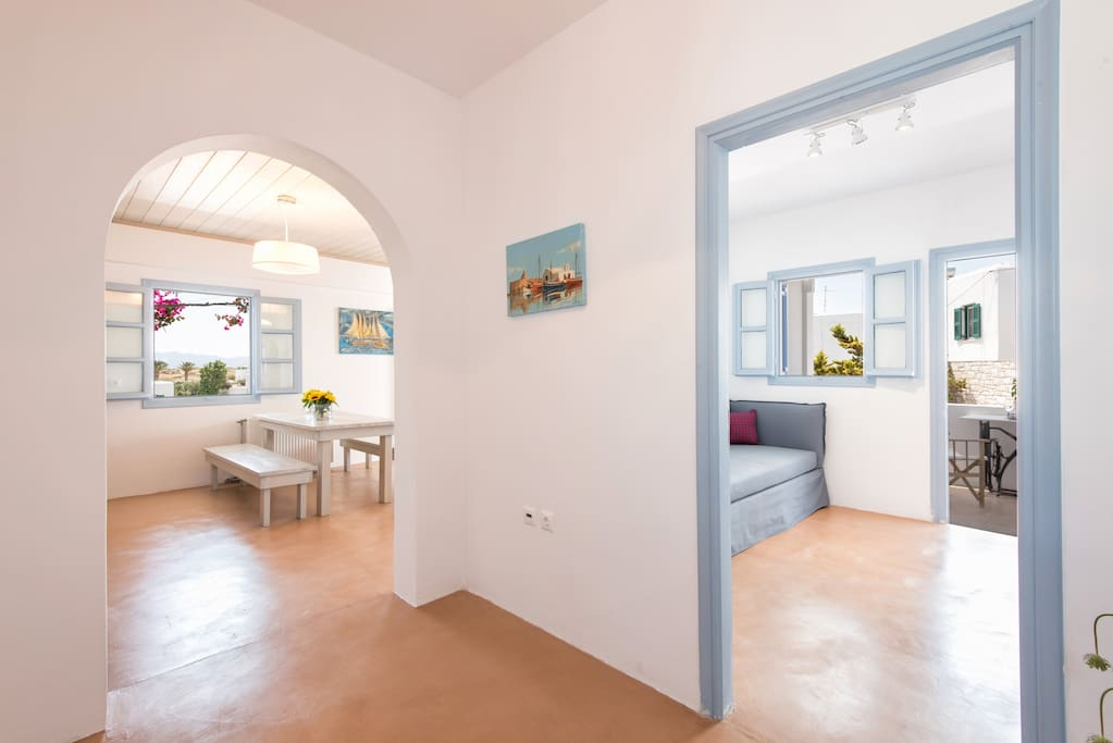 it is a bright house with big space
