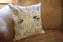 """She refused to be bored..."""