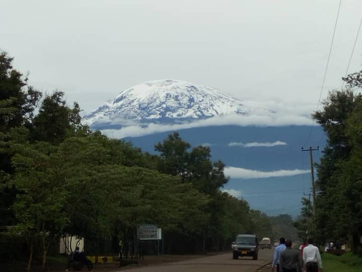 Next to kilimanjaro mountainview though  window