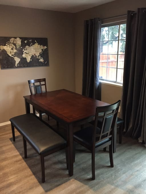 Enjoy visiting and dining at this welcoming table.