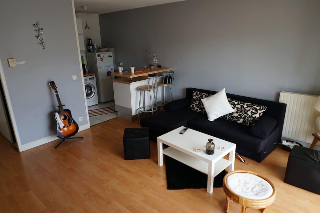 Appartement t2 45m2 bordeaux p appartements louer for Louer t2 bordeaux