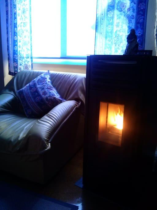 Calefaccion de biomasa