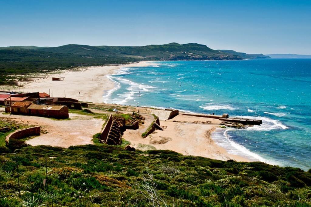 Spiaggia di Fontanamare - golfo del Leone di Gonnesa