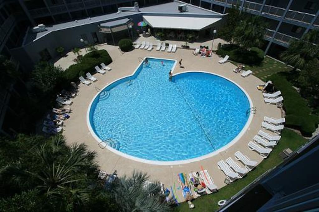 Another view of largest outdoor pools in our oceanside resort.