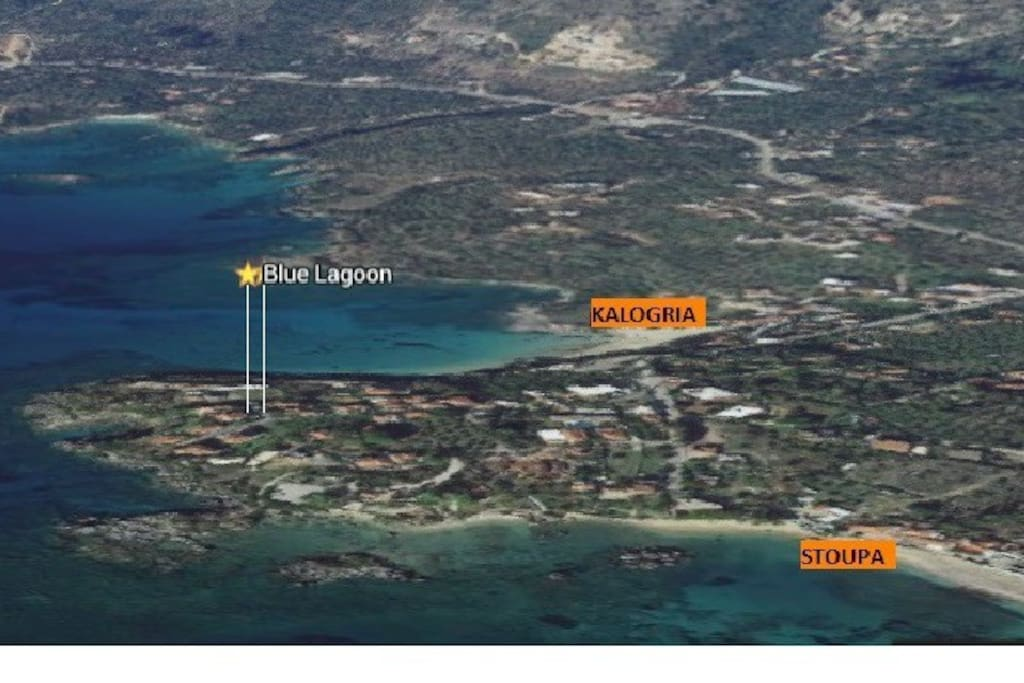 the location between 2 beaches