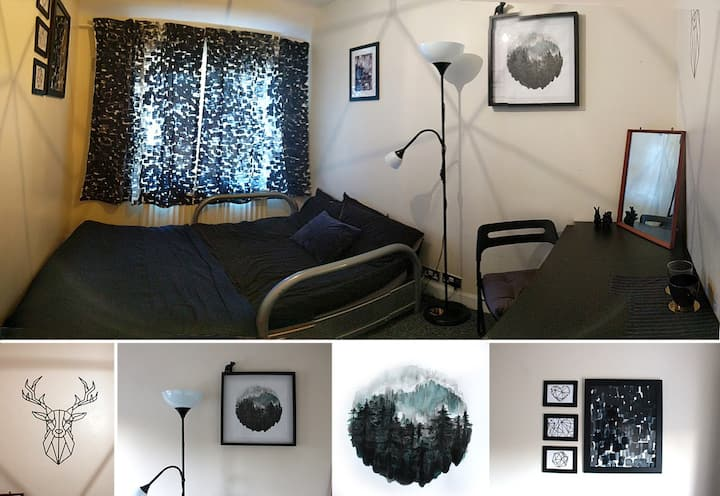 Cosy professional double room, 15mins from centre
