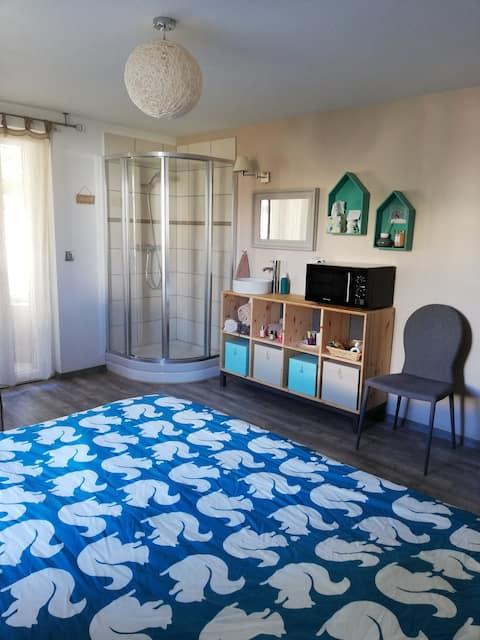 Chambre privée avec accès jardin à montelimar