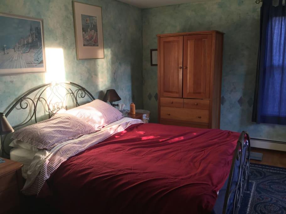 Master second floor bedroom with walk in closet.