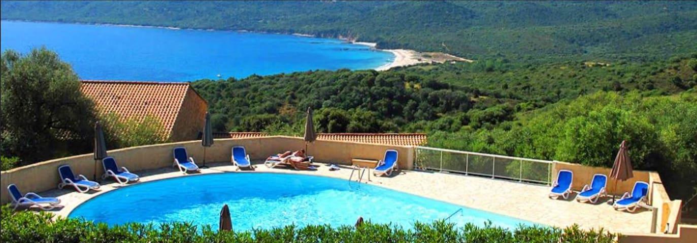 Mini-villa 47 dans Rés 3* Vue Mer Piscine chauffée - Serra-di-Ferro - Ferienunterkunft