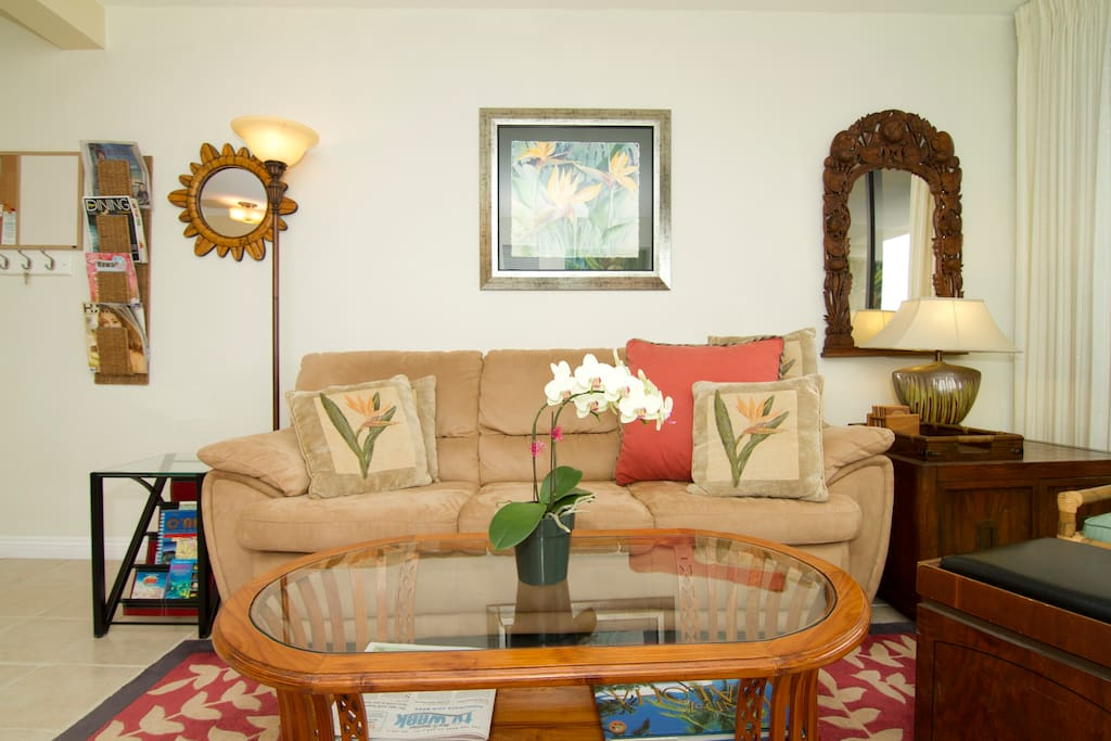 Comfortable Living Area has High Speed Wi-Fi Access
