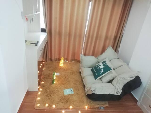 【西柚复式LOFT公寓】慵懒风  九江学院旁 新天地 懒人沙发阳台