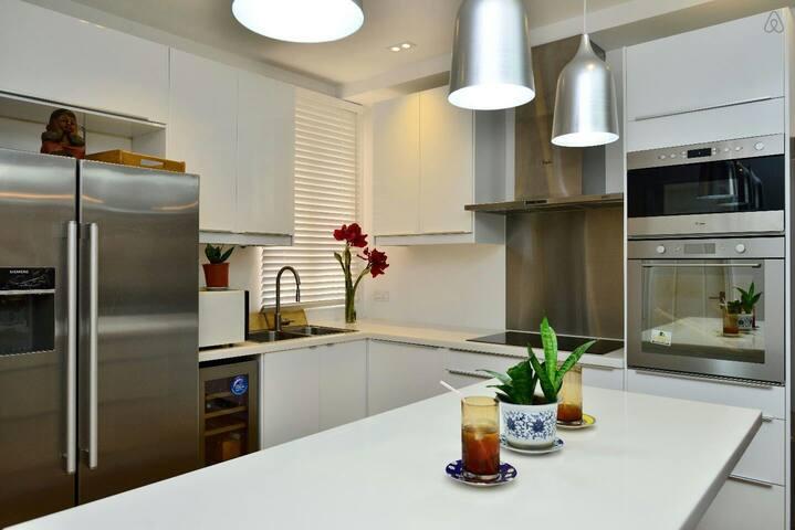 Kitchen (located Downstairs).