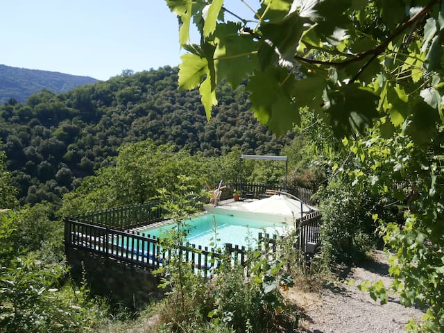 Petite ''Clède'' dans les Cévennes en Ardèche - Sablières - Naturstuga