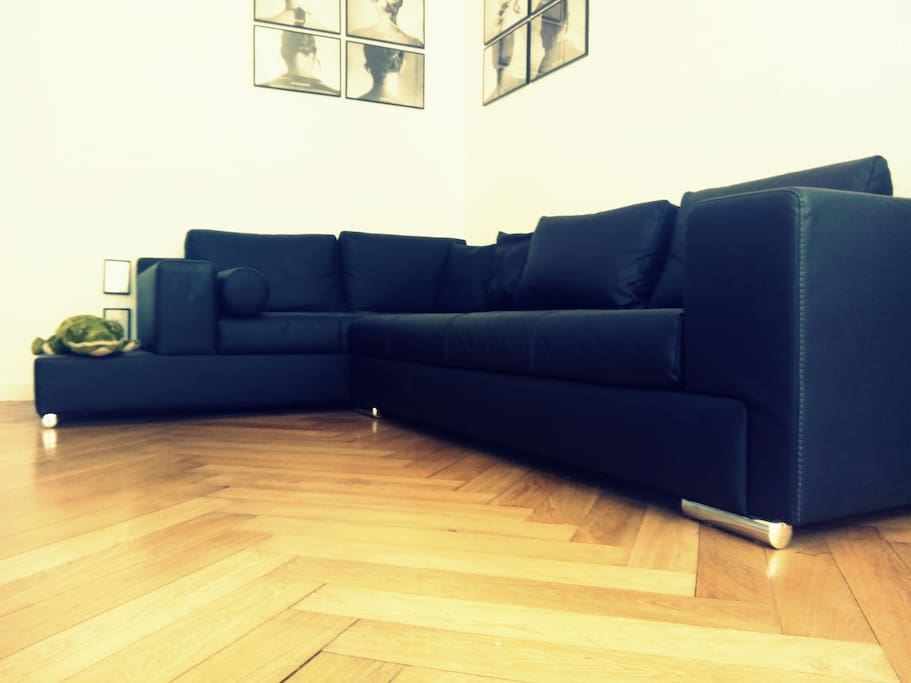 The lovely huge sofa - living room